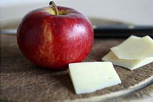 manzana con queso