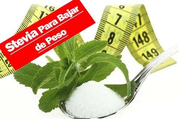 Como consumir la stevia para bajar de peso