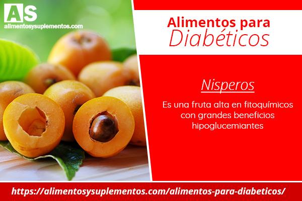 alimentos para diabeticos Nisperos