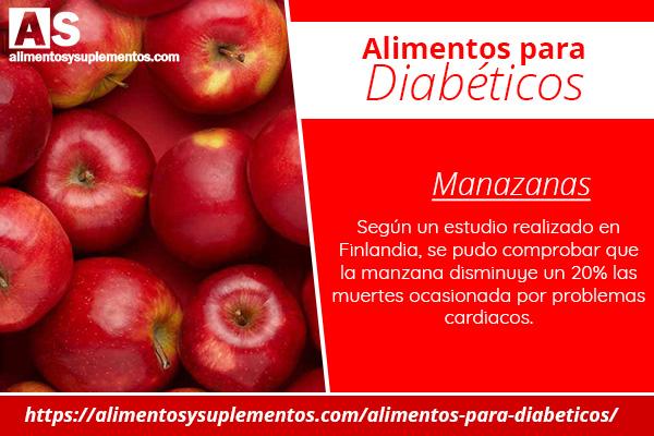 alimentos para diabeticos manzana
