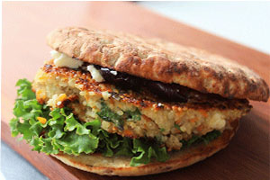 Quinoa Olive Burger