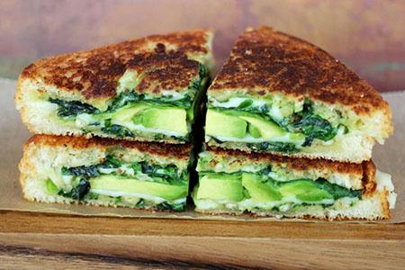 Sándwich verde al asador