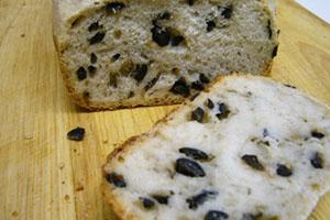 pan integral con aceitunas