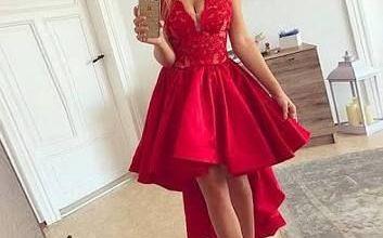 2019 Kısa Kırmızı Abiye Elbise Modelleri