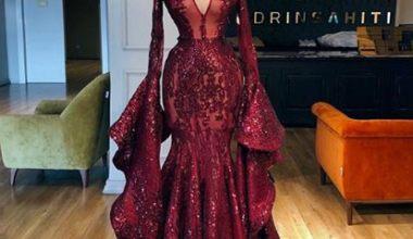 Simli Abiye Elbise Modelleri