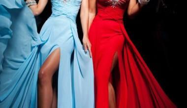 Yırtmaçlı Abiye Elbise Modelleri