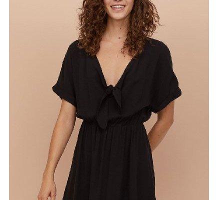 Siyah Penye Elbise Modelleri