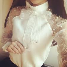 En Güzel Organze Kollu Bluz Modelleri