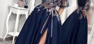Uzun Kollu Nişan Elbise Modelleri ve Fiyatları