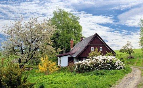 huis op het platteland