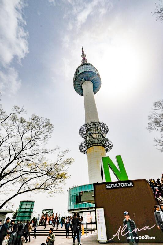 【首爾景點】N 首爾塔-南山公園:交通方式+門票優惠,首爾櫻花景點 - Alina 愛琳娜 嗑美食瘋旅遊