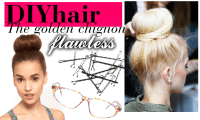 DIYhair – Golden Chignon