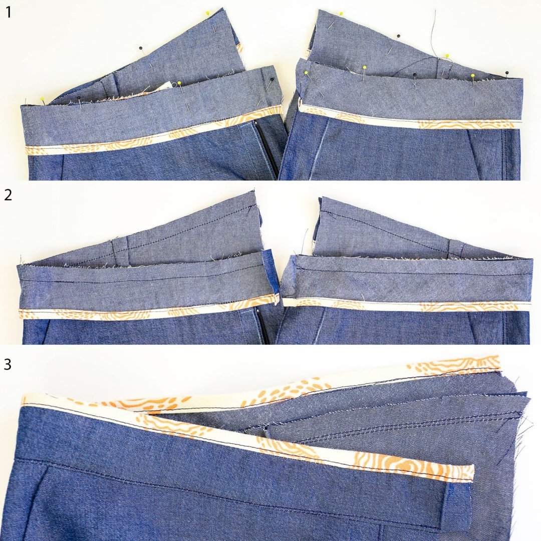 Chi-Town Chinos-Attaching Waistband Facing