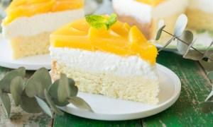 Prăjitură cu mascarpone şi piersici