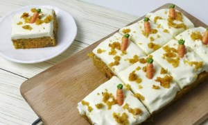Prăjitură cu morcov şi lămâie