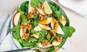 Salată de spanac cu măr verde