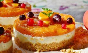 Tartă cu mascarpone şi portocale