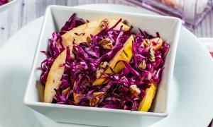 Salată de varză roşie cu gutui
