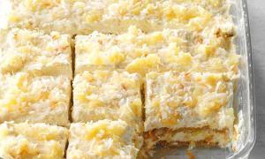 Prăjitură cu cocos şi ananas