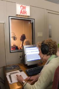 An audiobook recording studio