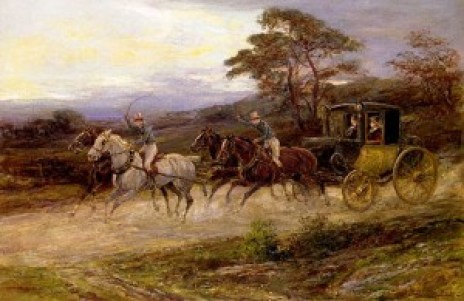 800px-Hardy_Heywood_-_On_The_Road_To_Gretna_Green post chaise in art