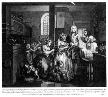 Hogarth, A Rake's Progress, Married to an Old Maid