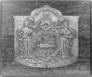 a photo of the Arms of the Royal College of Surgeons of Edinburgh. Besides educating physicians, the medical school trained surgeons.