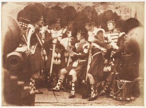 A picture of Scottish soldiers - men in kilts