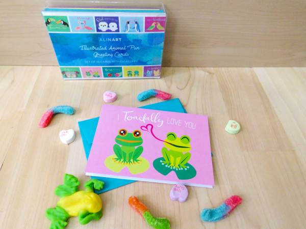 frog card with box set