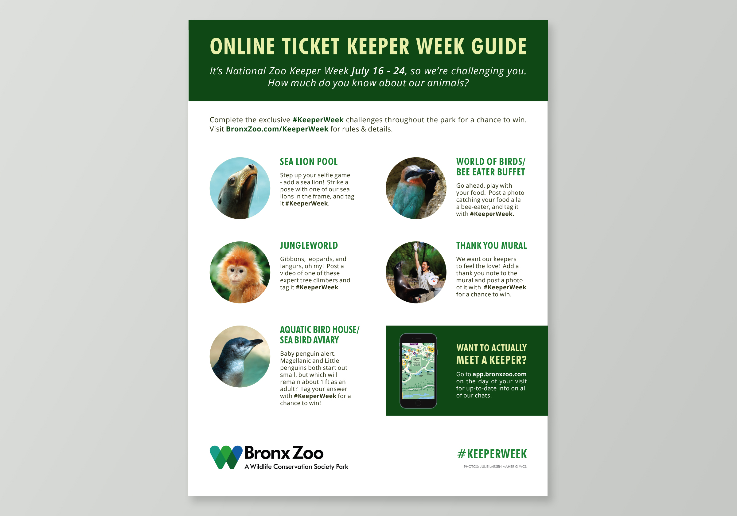 Bronx Zoo Keeper Week