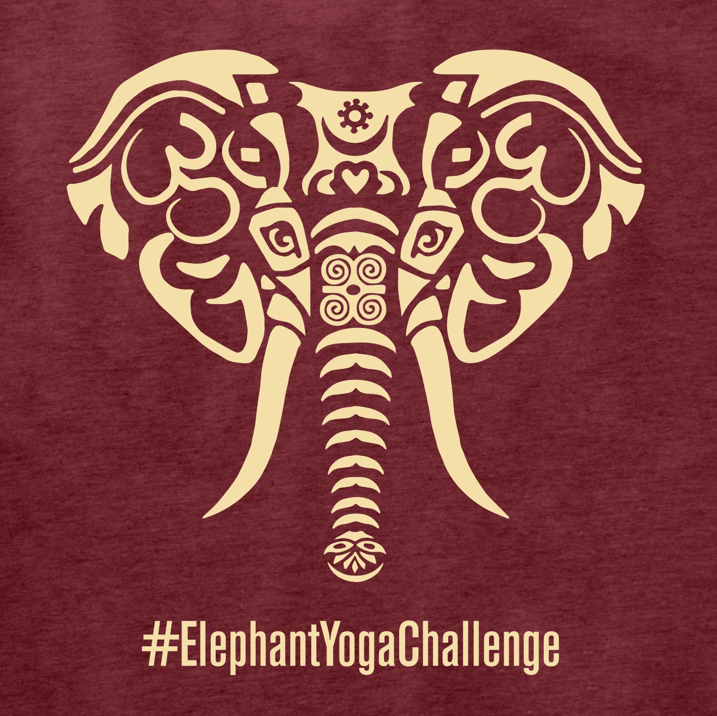 Elephant Yoga Challenge Shirt Zoom