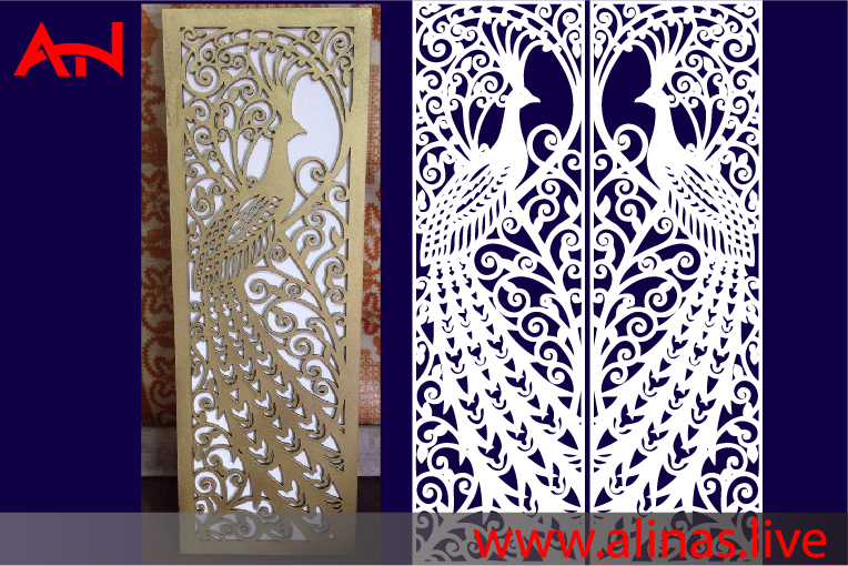 Read more about the article Peacock Panel Decor vector