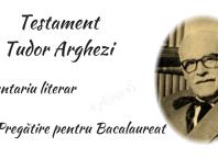 Testament Tudor Arghezi alinas.ro