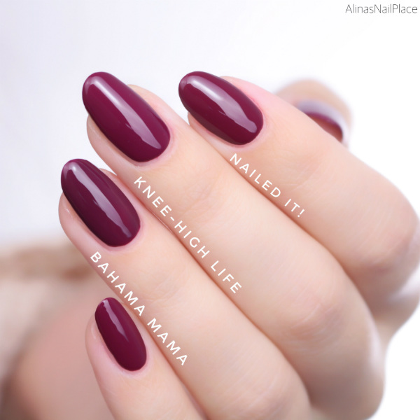 vergleich comparison essie herbstkollektion 2017 fall collection knee-high life nailed it! bahama mama