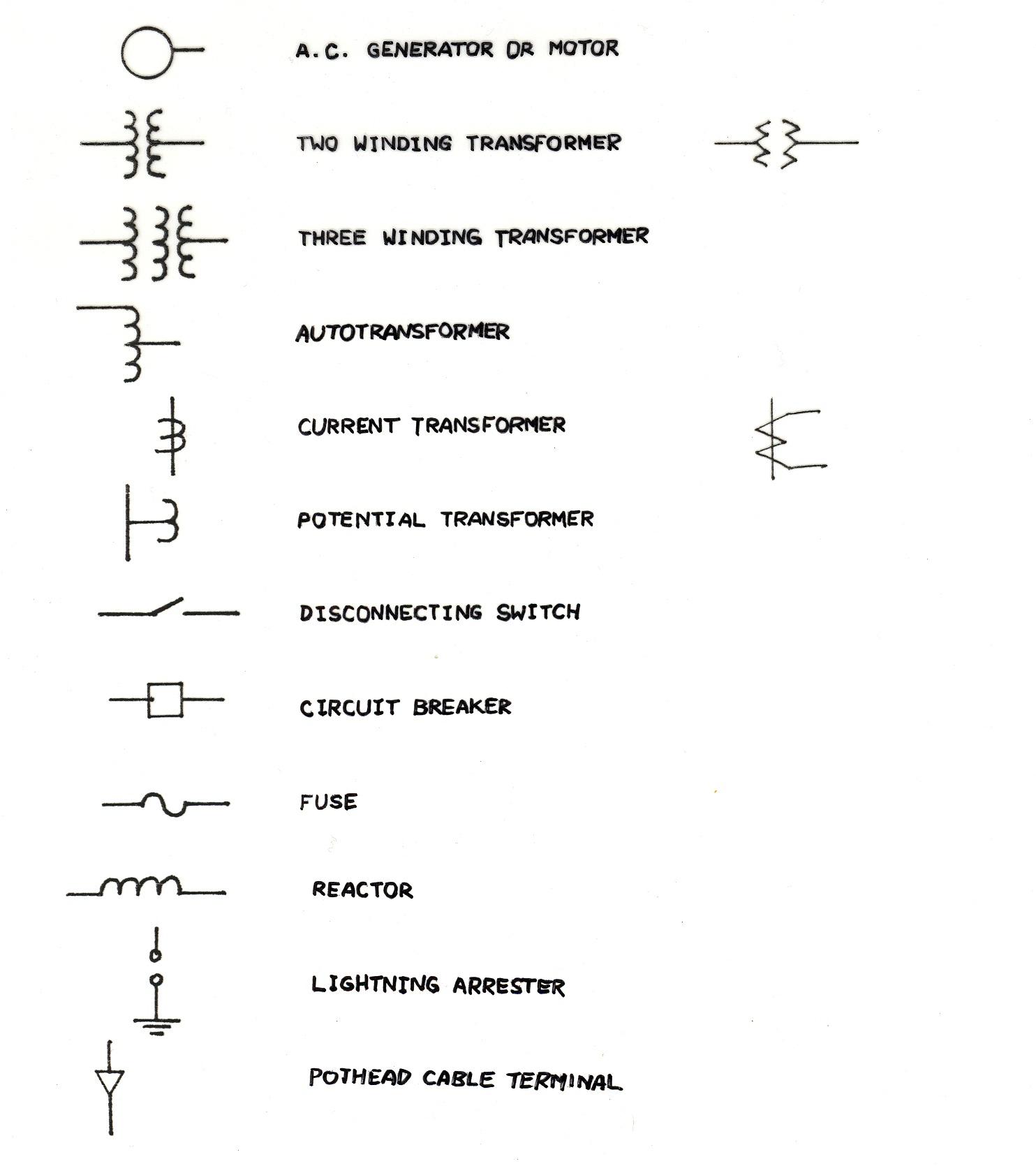 wiring diagram substation multiplication array one line electrical symbols manual e books
