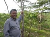 Mister Ziba op de quartsberg in Kafukule