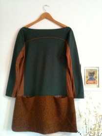 vestido verde front