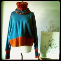 Jersey azul y naranja Blue and orange jersey 75€