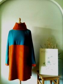 Vestiseta azul y naranja Blue and orange T.dress 75€