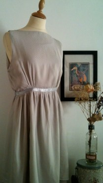 Vestido Gris plata 1 Silver Gray dress 1 80€