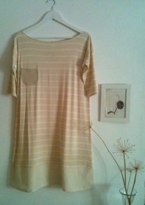 Vestido rayas de crema Striped cream Dress 50€