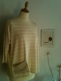 Vestido rayas de crema Striped cream Dress 45€