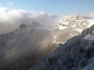 Snowstorm at Ai-Petri mountains