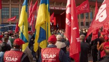 "Activists of the ""UDAR of Vitaly Klitschko"" party"