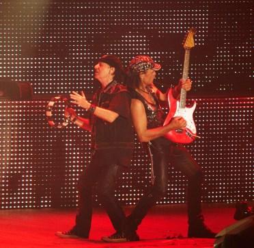 Tambourine and guitar