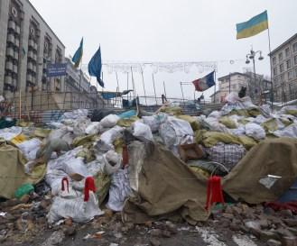 Barricades at Khreshchatyk