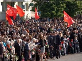 Victory Day celebration. May 9, 2014. Krivoy Rog, Ukraine