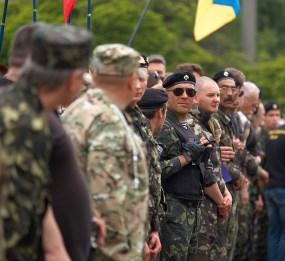 Ukrainian cossacks (self-defence unit of Krivoy Rog)