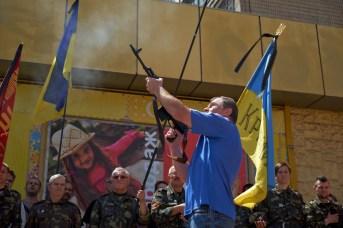 Gun salute in honor of lost soldiers