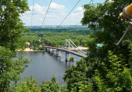 View to Dnipro river